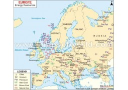 Europe Energy Resources Map - Digital File