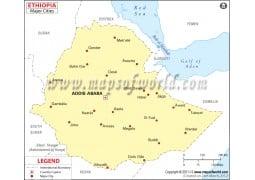 Ethiopia Map withCities