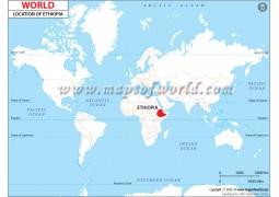 Ethiopia Location Map - Digital File