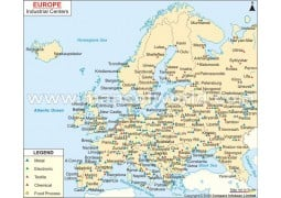 Map of Europe Industrial Center