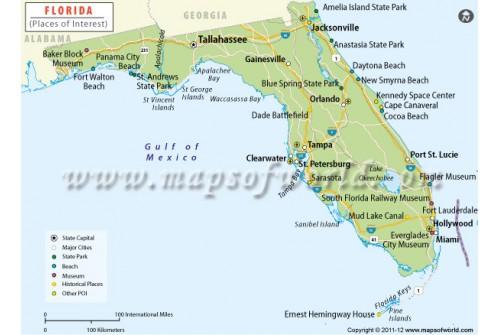 Florida Tourist Map