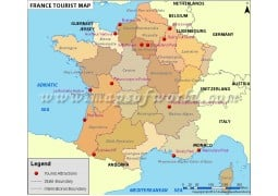 France Tourist Map - Digital File