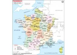 Frankreich Karte - Digital File