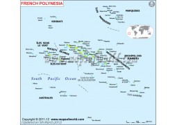French Polynesia Map - Digital File