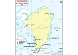 Greenland Latitude and Longitude Map