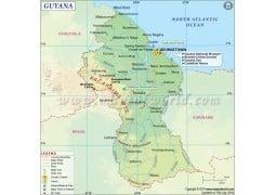 Guyana Map - Digital File