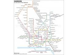 Hamburg Metro Map - Digital File