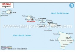 Hawaii Airports Map - Digital File