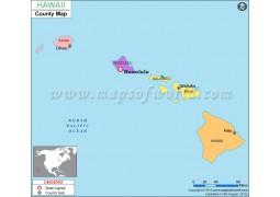 Hawaii County Map - Digital File