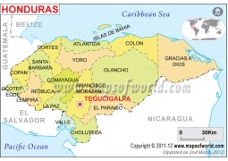 Political Map of Honduras - Digital File