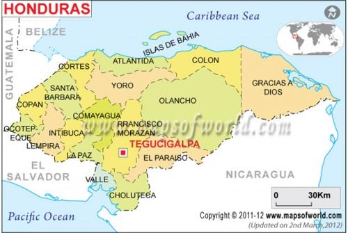Political Map of Honduras
