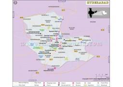 Hyderabad Map - Digital File