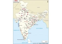 India Minerals Map - Digital File
