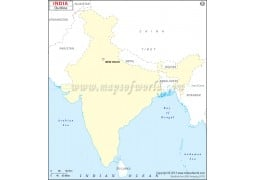 India Outline Map - Digital File