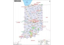 Map of Indiana - Digital File