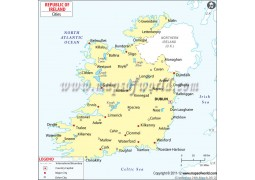 Map of Ireland with Cities - Digital File