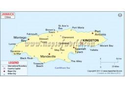 Jamaica Cities Map - Digital File