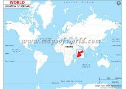 Jordan Location Map - Digital File