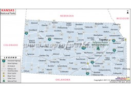 Map of Kansas National Parks - Digital File