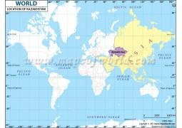 Kazakhstan Location Map - Digital File