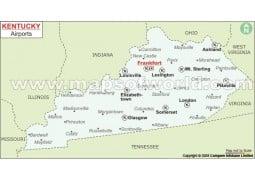 Kentucky Airports Map