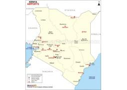 Kenya Airports Map - Digital File