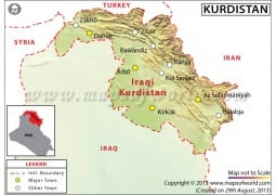 Kurdistan Map - Digital File