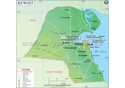 Kuwait Map - Digital File