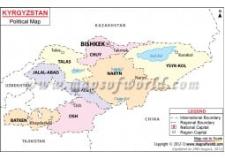 Political Map of Kyrgyzstan - Digital File
