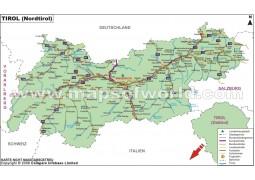 Landkarte Tirol (Tirol Map) - Digital File