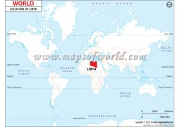 Libya location Map - Digital File