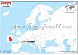 Liechtenstein Location Map - Digital File