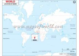 Benin Location Map - Digital File