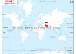 Iran Location Map - Digital File