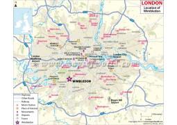 Wimbledon Location Map - Digital File