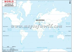 Macedonia Location Map - Digital File