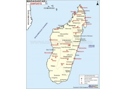 Madagascar Airports Map