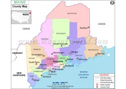 Maine County Map - Digital File