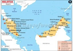 Malaysia Airports Map - Digital File