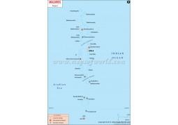Map of Maldive Airports  - Digital File