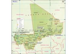 Mali Map - Digital File