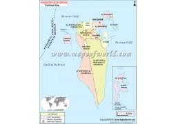 Bahrain Map - Digital File