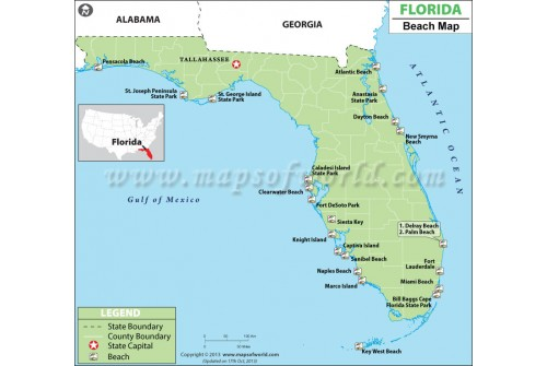 Map of Florida Beaches
