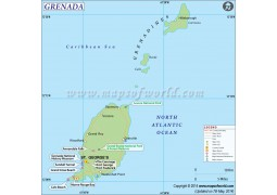 Grenada Map - Digital File
