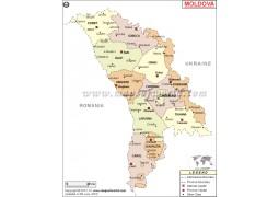 Moldova Map - Digital File
