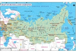 Russia and Ukraine Map - Digital File