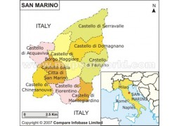 San Marino Map - Digital File