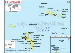 Seychelles Map - Digital File