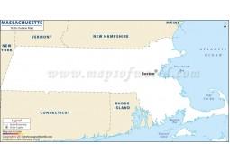 Blank Map of Massachusetts - Digital File