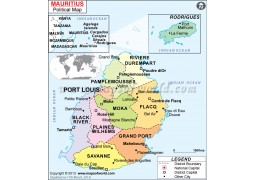 Buy Mauritius Maps From Online Map Store - Political map of mauritius